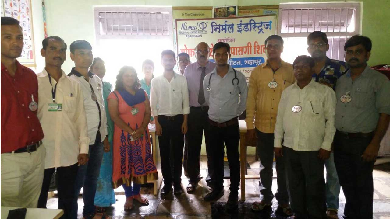 Medical Health Check up Arranged for Asangaon villagers