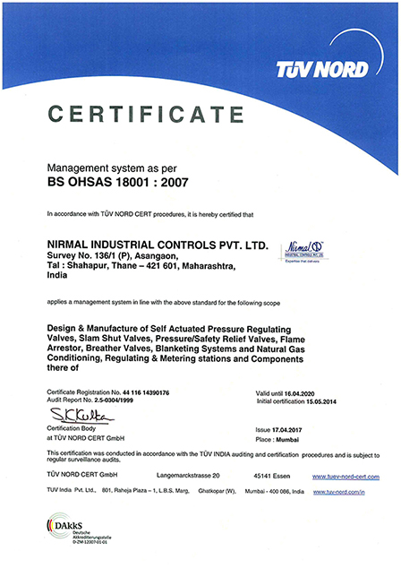 BS OHSAS 18001 2007 Certification